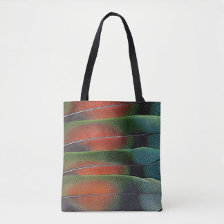 Love Bird Tail Feather Design Tote Bag
