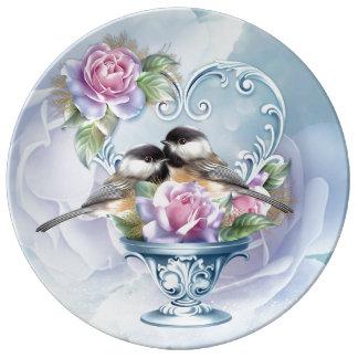 Love Bird Valentine Decorative Porcelain Plate