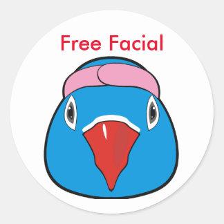 Love bird with headband round sticker