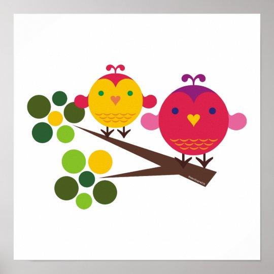 love birdies print girl's room decor