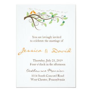 Love Birds 13 Cm X 18 Cm Invitation Card