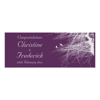 Love Birds 2 decorative wedding banner Print