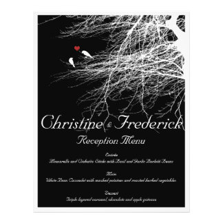 Love Birds 2, wedding menu and program flyers