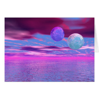 Love Birds - Abstract Pink and Purple Passion Greeting Card
