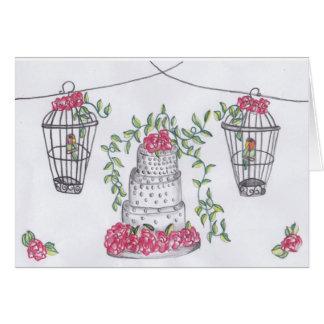 Love Birds and a Cake Card