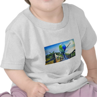 love birds and majestic landscape 3 t-shirts