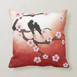 Love Birds and Sakura Pillow Cushions