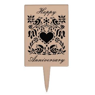 Love Birds Anniversary Cake Topper