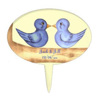 Love Birds (Blue) Cake Pick