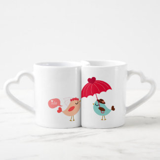 Love Birds Bride and Groom Lovers Mugs Lovers Mug