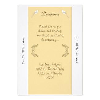 Love Birds Brown/Tan Wedding Reception Card 13 Cm X 18 Cm Invitation Card