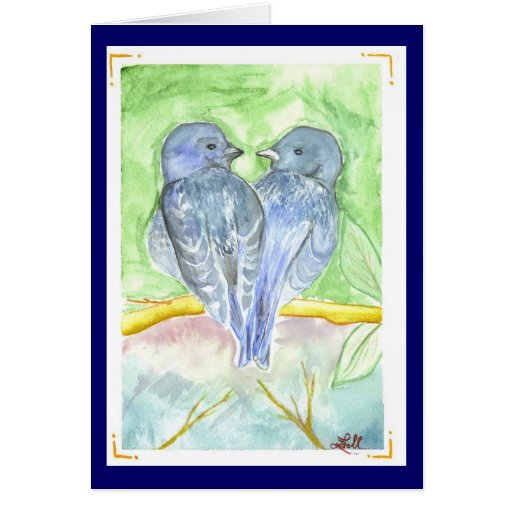 Love Birds Greeting Cards