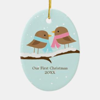 Love Birds Christmas Ornament