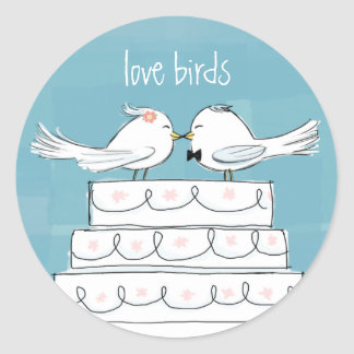 Love Birds Classic Round Sticker