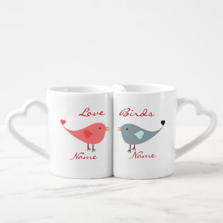 """Love Birds"" Coffee Mug Set"