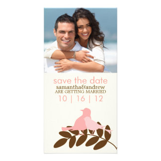 Love Birds Custom Photo Wedding Announcements Photo Greeting Card