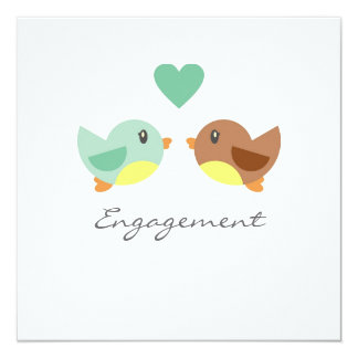 Love Birds Engagement Invitation Announcement
