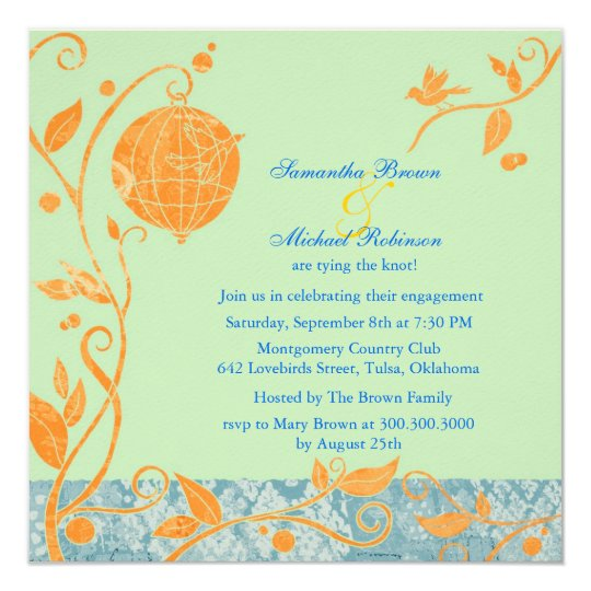 Love Birds: Engagement Invitations