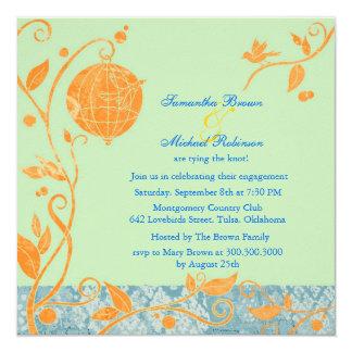Love Birds: Engagement Invitations