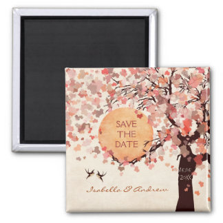 Love Birds - Fall Wedding Save the Date Magnet. Magnet