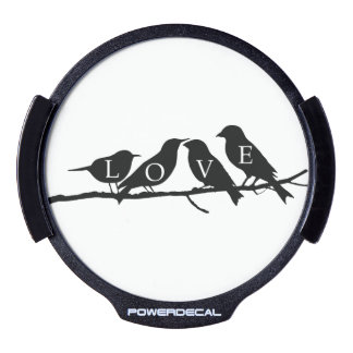 Love Birds LED Window Decal