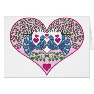 Love Birds Heart Card