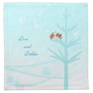 Love birds in tree napkins