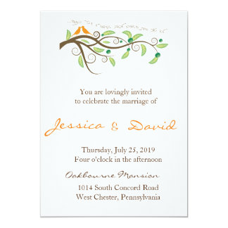Love Birds 5x7 Paper Invitation Card