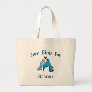 Love Birds Large Tote Bag