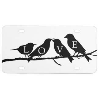 Love Birds License Plate