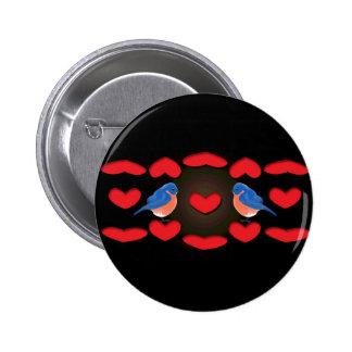 love birds_love_black_design 6 cm round badge