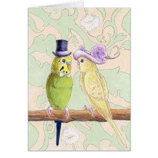 Love Birds - Love Budgies Greeting Card