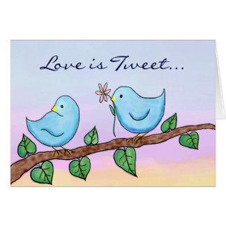 Love Birds, Love is Tweet... Card