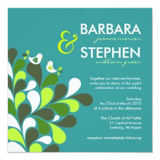 Love Birds - Modern Whimsical Wedding Invitations