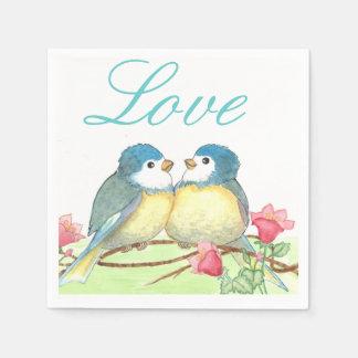 Love Birds Napkins Disposable Serviettes