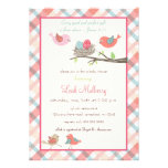 Love Birds Nest - Trendy Scripture Baby Shower Custom Invitation