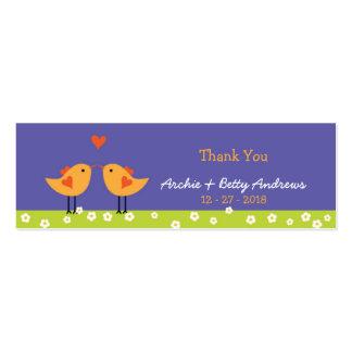 Love Birds Night Wedding Favor Tags Business Card Templates
