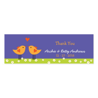 Love Birds (Night) Wedding Favor Tags Pack Of Skinny Business Cards