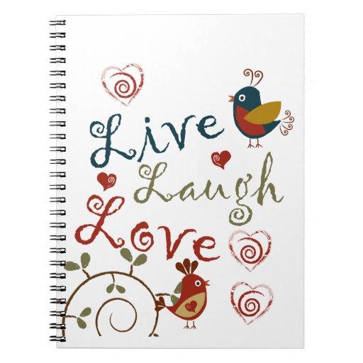 Love Birds Note Books
