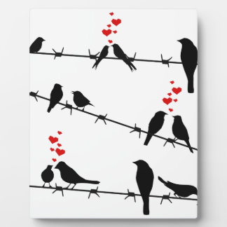 Love Birds on a Wire Plaque