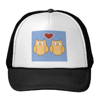 Love Birds Owls Blossom Heart Destiny Shower Party Cap
