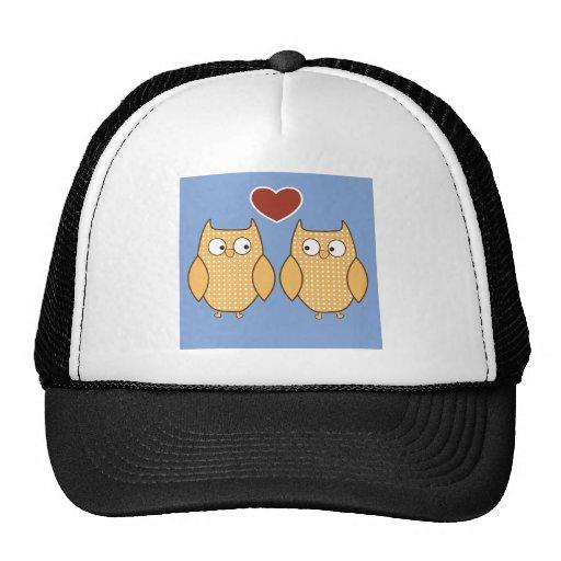 Love Birds Owls Blossom Heart Destiny Shower Party Mesh Hats