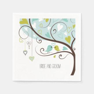 Love Birds Paper Serviettes