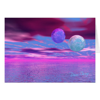 Love Birds - Pink and Purple Passion Greeting Card