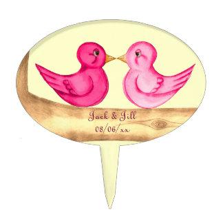 Love Birds (Pink) Cake Topper