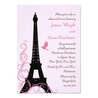 Love Birds Rehearsal Dinner (pink) 13 Cm X 18 Cm Invitation Card