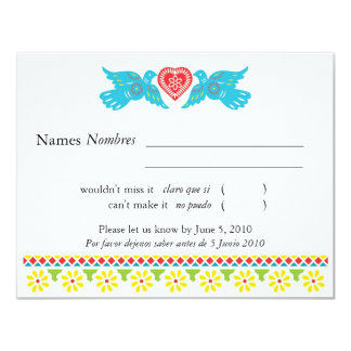Love Birds RSVP Card - customised