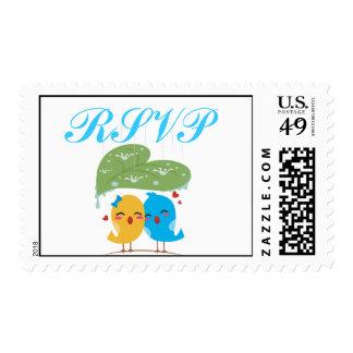 Love birds RSVP Postage