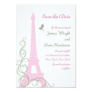 Love Birds Save the Date 13 Cm X 18 Cm Invitation Card