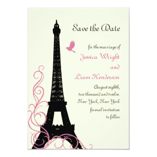 Love Birds Save the Date (off white) Card
